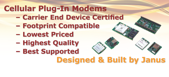 Janus embedded IoT socket modems for quick-to-market deployment of end applications