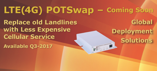Plain Old Telephone service (POTS) to cellular from HSPA+ and EVDO to LTE