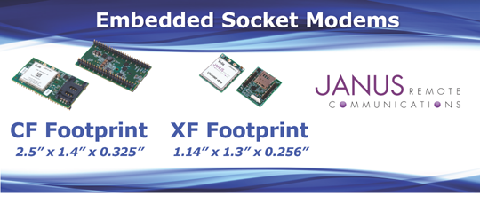 Janus embedded CF-XF socket modems for quick-to-market deployment of end applications